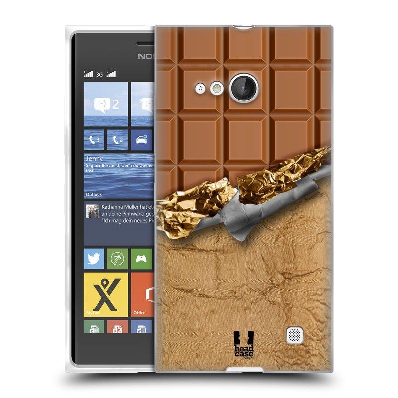 Silikonové pouzdro na mobil Nokia Lumia 735 HEAD CASE ČOKOFOILED (Silikonový kryt či obal na mobilní telefon Nokia Lumia 735)
