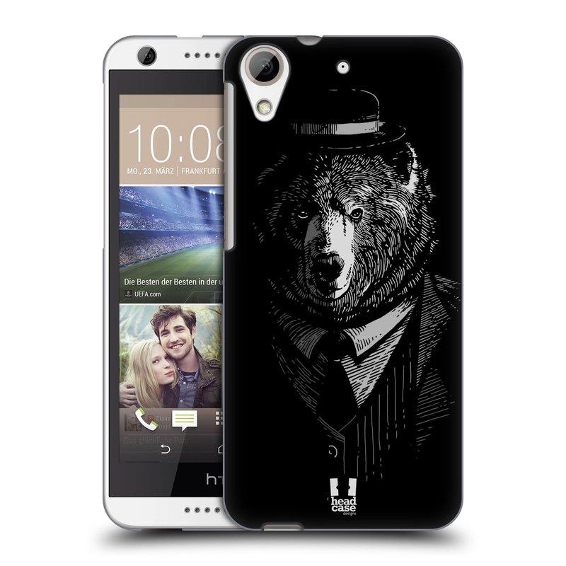 Plastové pouzdro na mobil HTC Desire 626 / 626G HEAD CASE MEDVĚD V KVÁDRU (Kryt či obal na mobilní telefon HTC Desire 626G Dual SIM a HTC Desire 626)