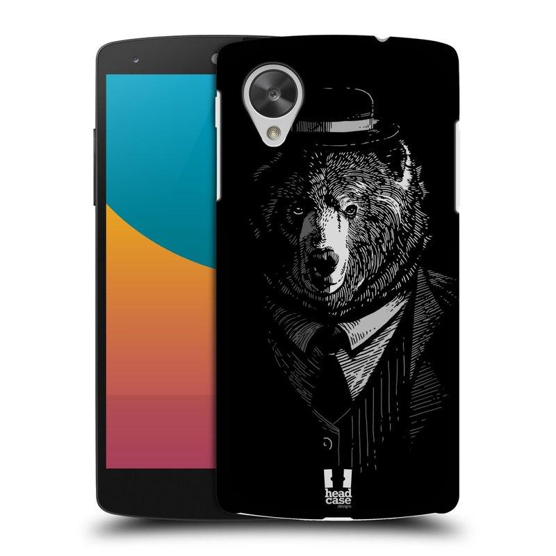 Plastové pouzdro na mobil LG Nexus 5 HEAD CASE MEDVĚD V KVÁDRU (Kryt či obal na mobilní telefon LG Google Nexus 5 D821)