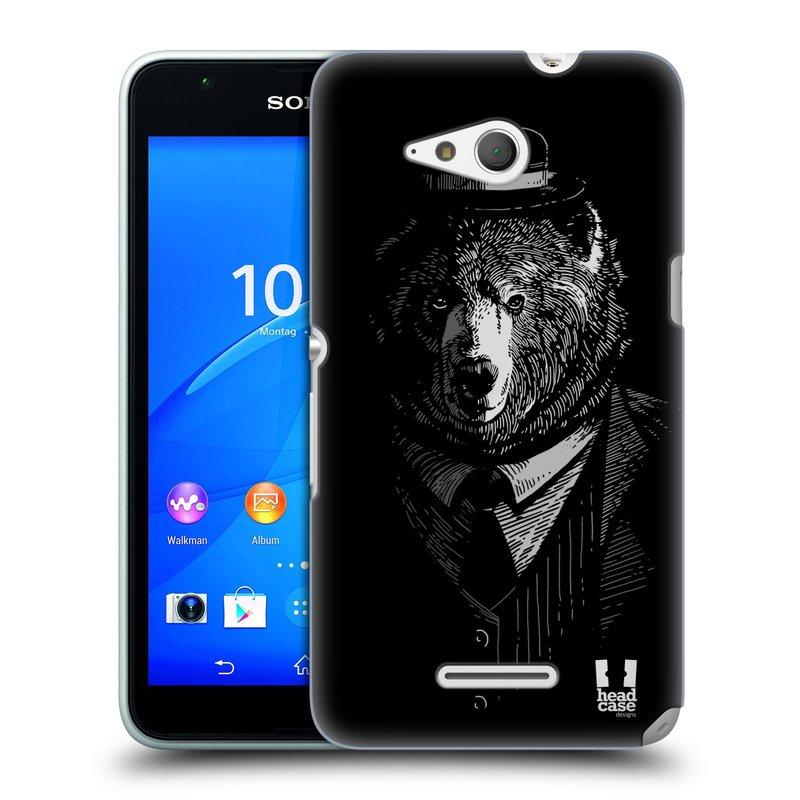 Plastové pouzdro na mobil Sony Xperia E4g E2003 HEAD CASE MEDVĚD V KVÁDRU (Kryt či obal na mobilní telefon Sony Xperia E4g a E4g Dual SIM)