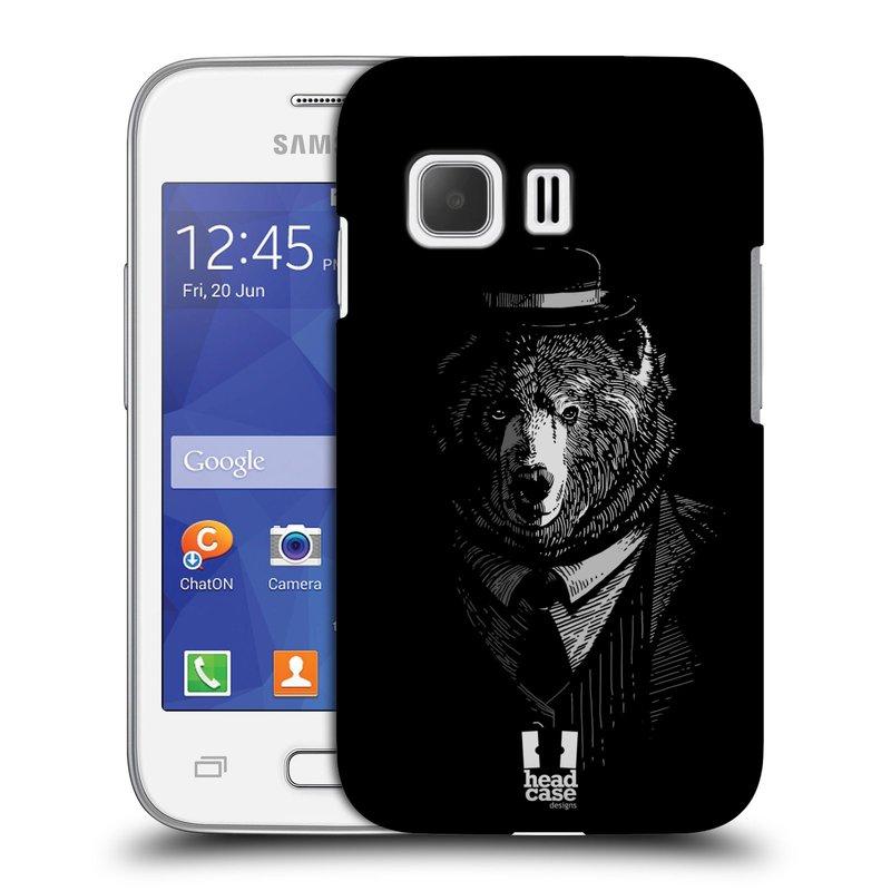 Plastové pouzdro na mobil Samsung Galaxy Young 2 HEAD CASE MEDVĚD V KVÁDRU (Kryt či obal na mobilní telefon Samsung Galaxy Young 2 SM-G130)