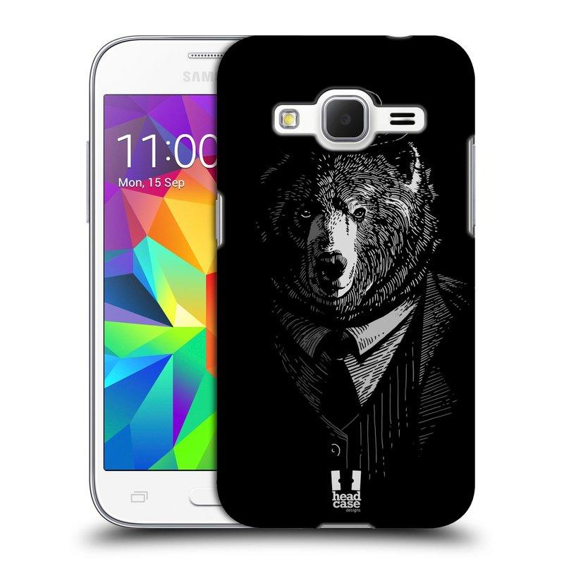 Plastové pouzdro na mobil Samsung Galaxy Core Prime LTE HEAD CASE MEDVĚD V KVÁDRU (Kryt či obal na mobilní telefon Samsung Galaxy Core Prime LTE SM-G360)