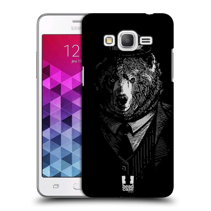 Plastové pouzdro na mobil Samsung Galaxy Grand Prime HEAD CASE MEDVĚD V KVÁDRU (Kryt či obal na mobilní telefon Samsung Galaxy Grand Prime SM-G530)