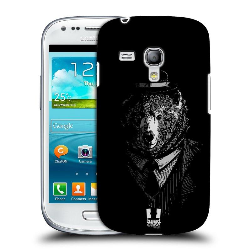 Plastové pouzdro na mobil Samsung Galaxy S III Mini HEAD CASE MEDVĚD V KVÁDRU (Kryt či obal na mobilní telefon Samsung Galaxy S III Mini GT-i8190)