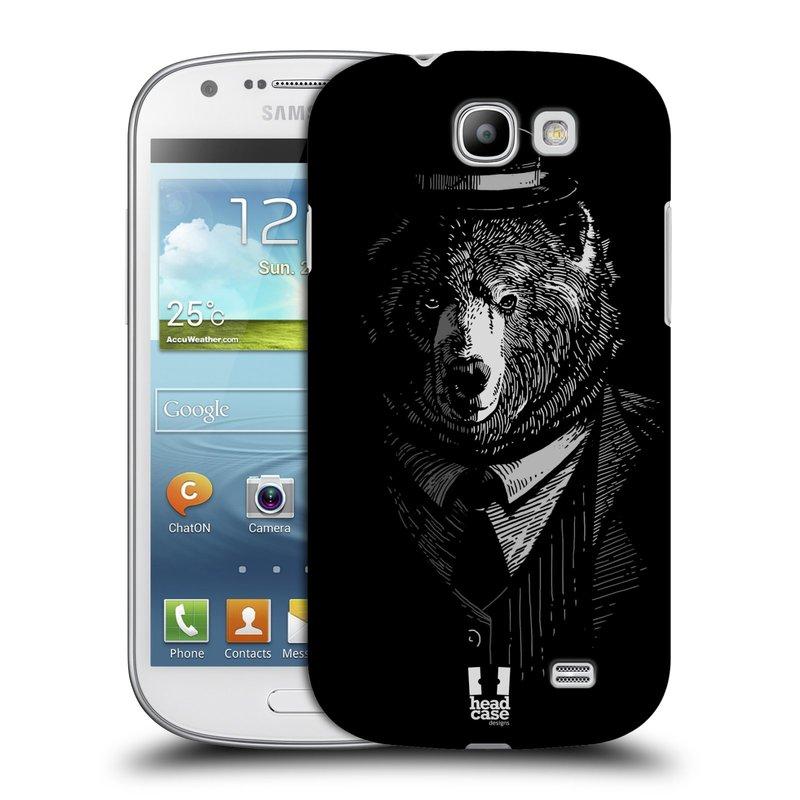 Plastové pouzdro na mobil Samsung Galaxy Express HEAD CASE MEDVĚD V KVÁDRU (Kryt či obal na mobilní telefon Samsung Galaxy Express GT-i8730)