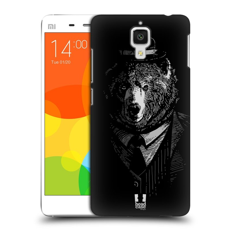 Plastové pouzdro na mobil Xiaomi Mi4 HEAD CASE MEDVĚD V KVÁDRU (Kryt či obal na mobilní telefon Xiaomi Mi4)