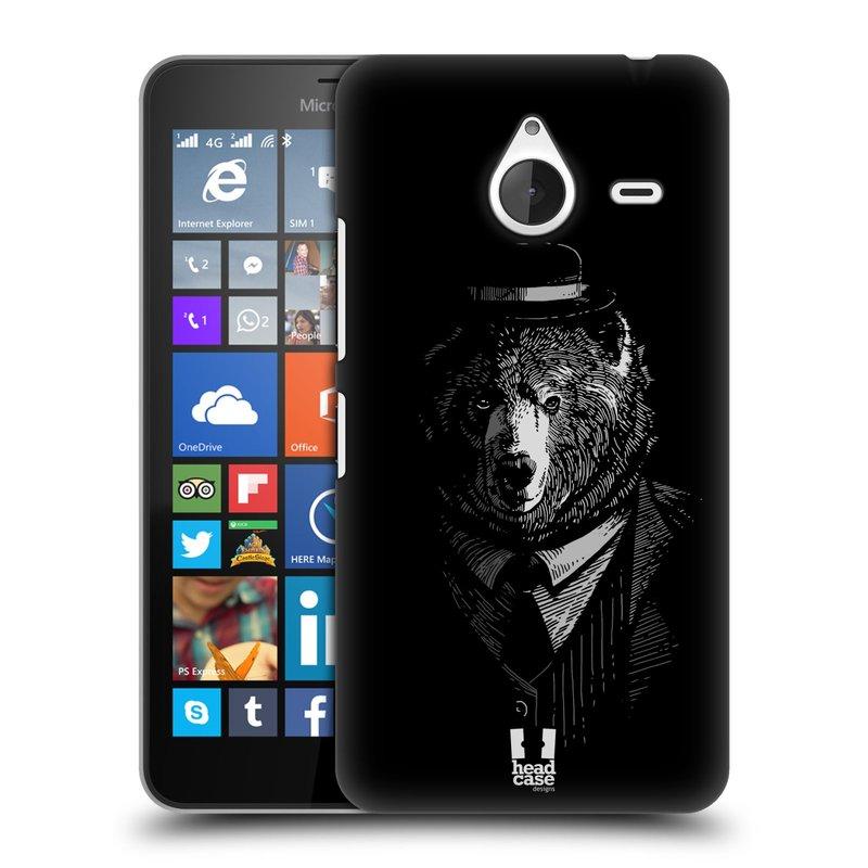 Plastové pouzdro na mobil Microsoft Lumia 640 XL HEAD CASE MEDVĚD V KVÁDRU (Kryt či obal na mobilní telefon Microsoft Lumia 640 XL)