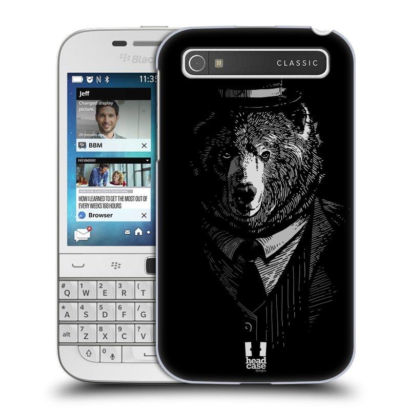 Plastové pouzdro na mobil Blackberry Classic HEAD CASE MEDVĚD V KVÁDRU (Kryt či obal na mobilní telefon Blackberry Classic)