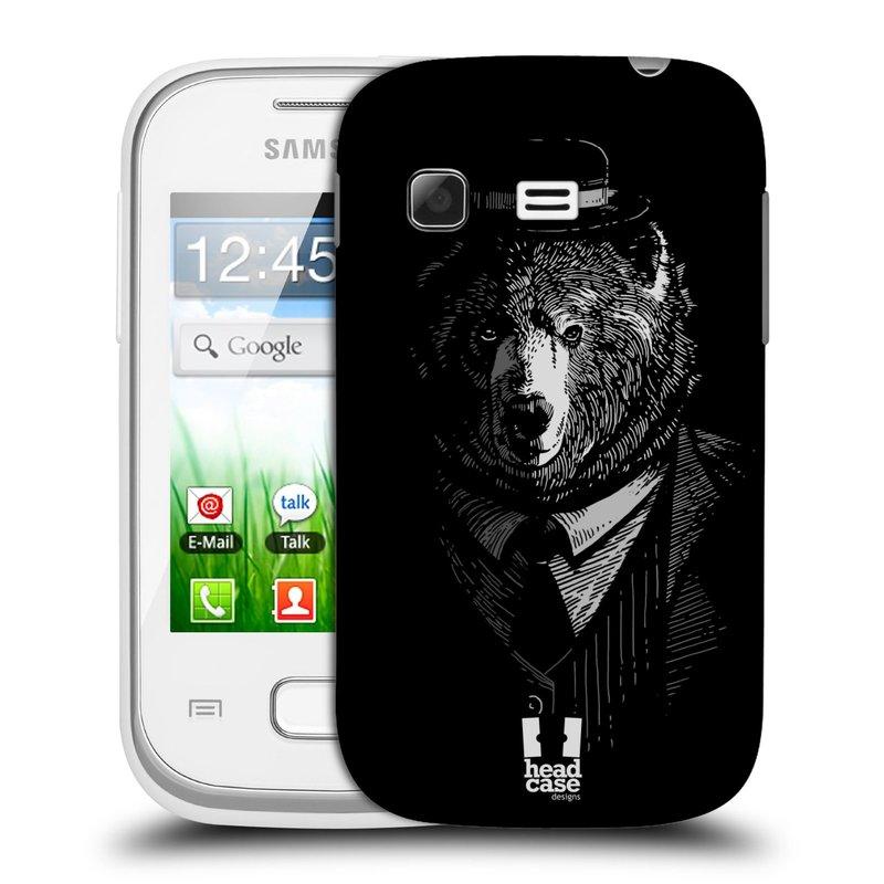 Plastové pouzdro na mobil Samsung Galaxy Pocket HEAD CASE MEDVĚD V KVÁDRU (Kryt či obal na mobilní telefon Samsung Galaxy Pocket GT-S5300)