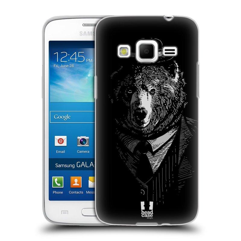 Silikonové pouzdro na mobil Samsung Galaxy Express 2 HEAD CASE MEDVĚD V KVÁDRU (Silikonový kryt či obal na mobilní telefon Samsung Galaxy Express 2 SM-G3815)
