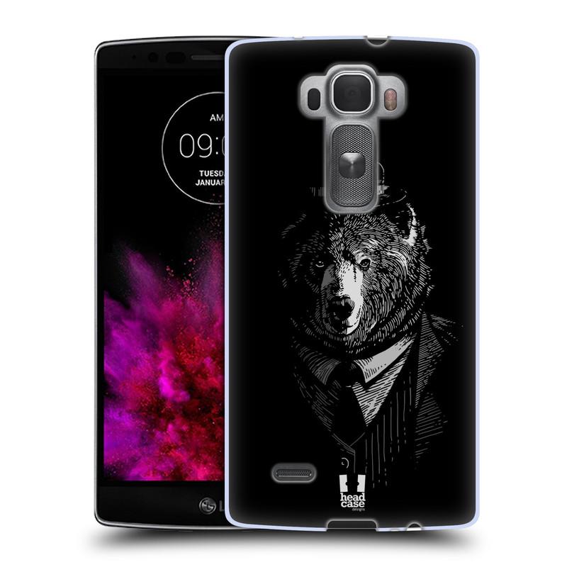 Silikonové pouzdro na mobil LG G Flex 2 HEAD CASE MEDVĚD V KVÁDRU (Silikonový kryt či obal na mobilní telefon LG G Flex 2 H955)