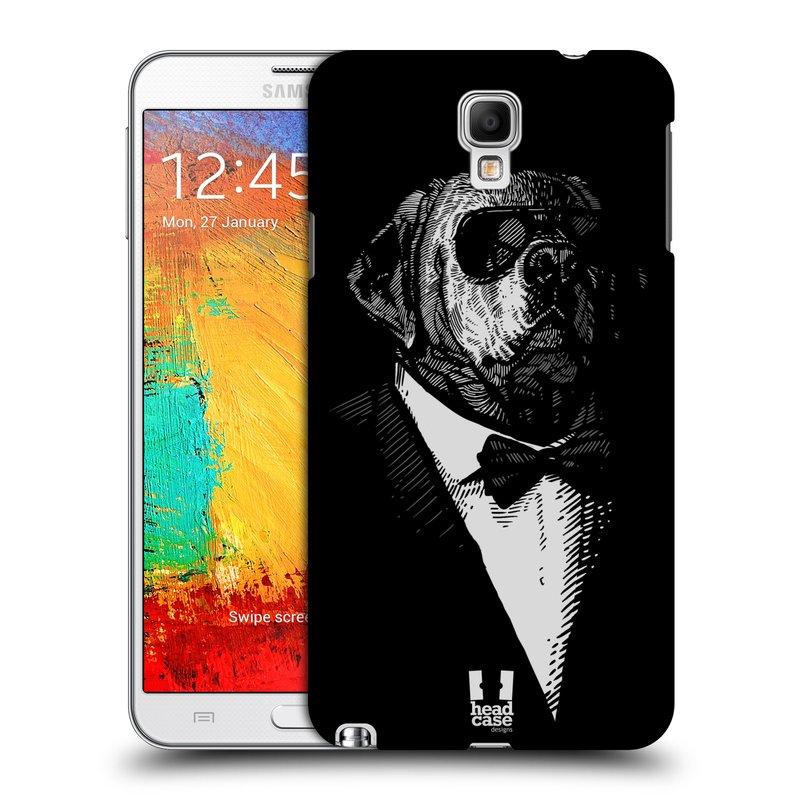 Plastové pouzdro na mobil Samsung Galaxy Note 3 Neo HEAD CASE PSISKO V KVÁDRU (Kryt či obal na mobilní telefon Samsung Galaxy Note 3 Neo SM-N7505)