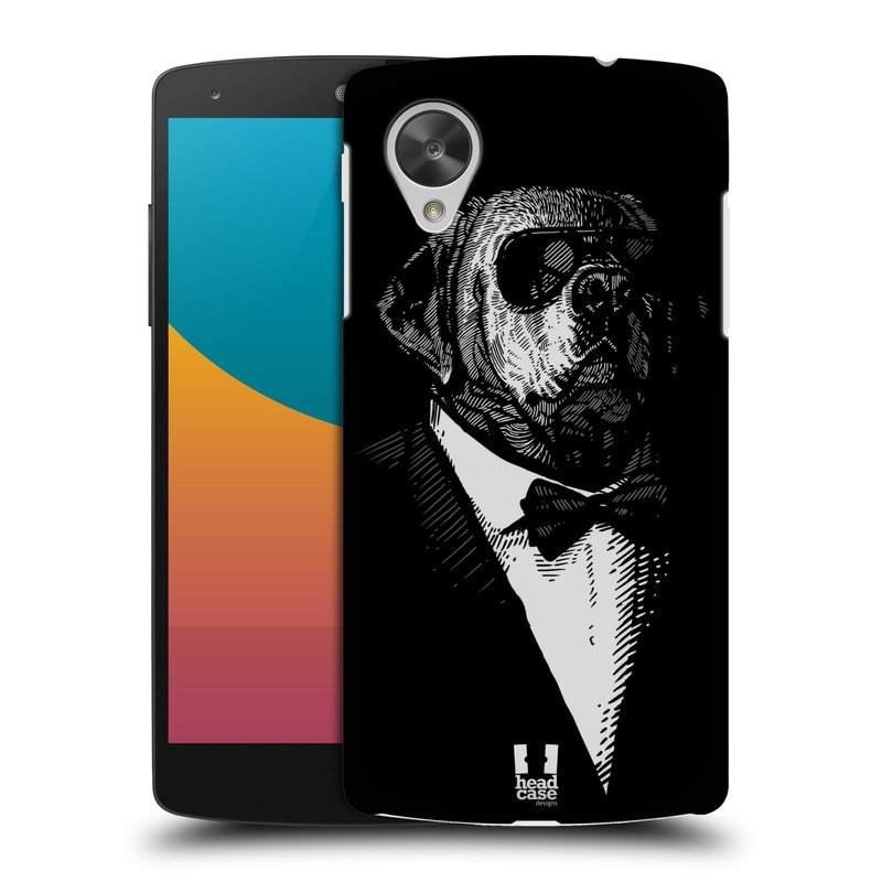 Plastové pouzdro na mobil LG Nexus 5 HEAD CASE PSISKO V KVÁDRU (Kryt či obal na mobilní telefon LG Google Nexus 5 D821)