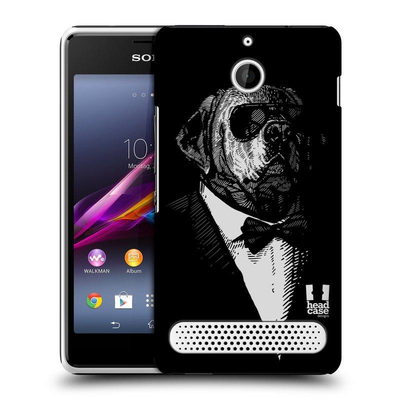 Plastové pouzdro na mobil Sony Xperia E1 D2005 HEAD CASE PSISKO V KVÁDRU (Kryt či obal na mobilní telefon Sony Xperia E1 a E1 Dual )
