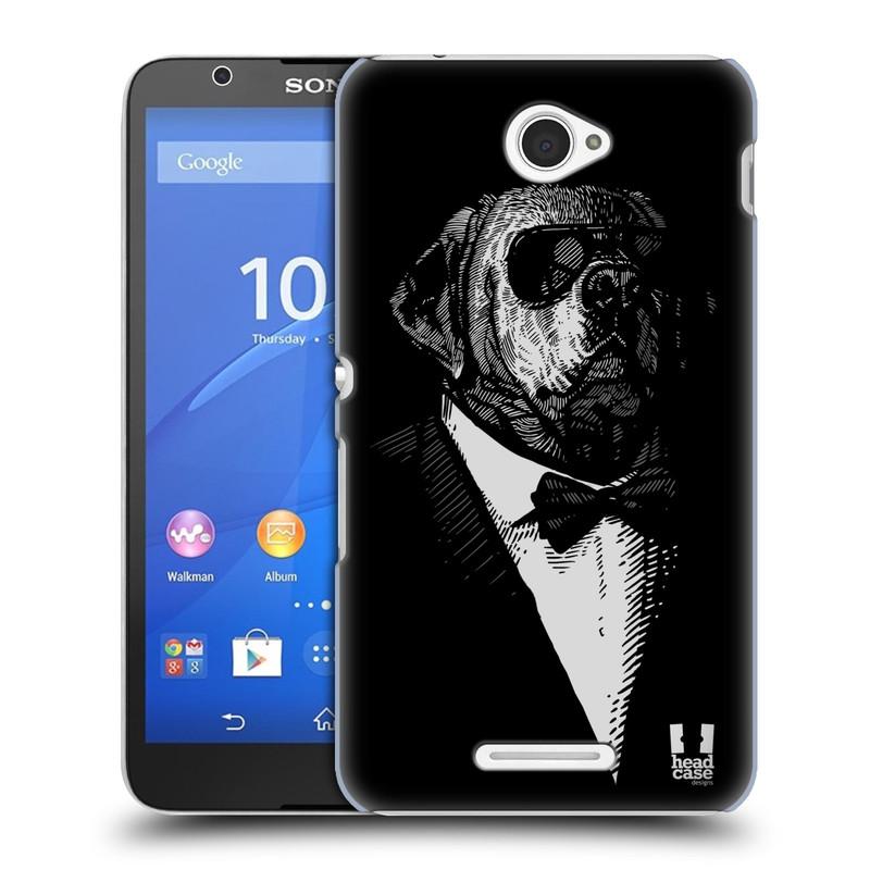 Plastové pouzdro na mobil Sony Xperia E4 E2105 HEAD CASE PSISKO V KVÁDRU (Kryt či obal na mobilní telefon Sony Xperia E4 a E4 Dual SIM)