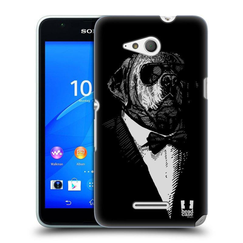 Plastové pouzdro na mobil Sony Xperia E4g E2003 HEAD CASE PSISKO V KVÁDRU (Kryt či obal na mobilní telefon Sony Xperia E4g a E4g Dual SIM)