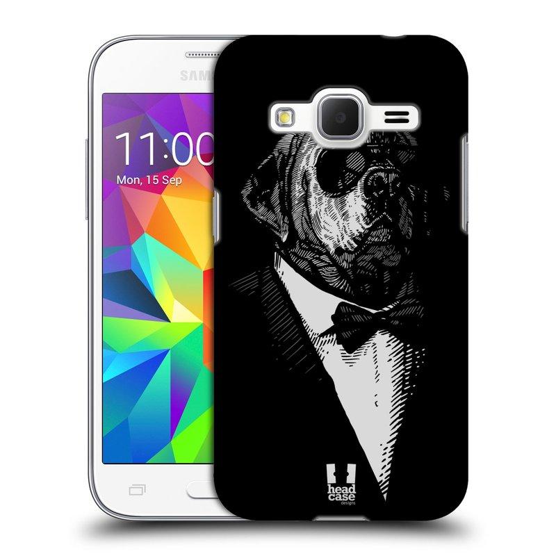 Plastové pouzdro na mobil Samsung Galaxy Core Prime LTE HEAD CASE PSISKO V KVÁDRU (Kryt či obal na mobilní telefon Samsung Galaxy Core Prime LTE SM-G360)