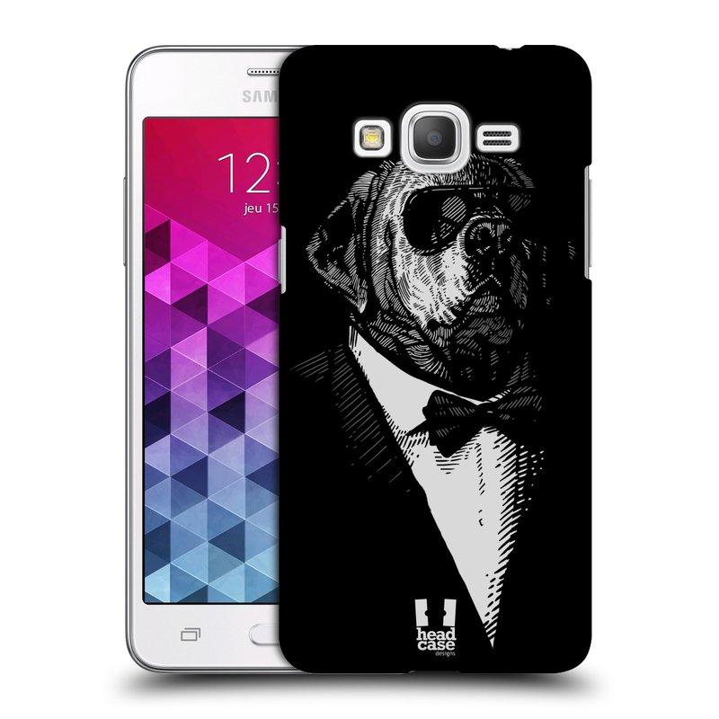 Plastové pouzdro na mobil Samsung Galaxy Grand Prime HEAD CASE PSISKO V KVÁDRU (Kryt či obal na mobilní telefon Samsung Galaxy Grand Prime SM-G530)