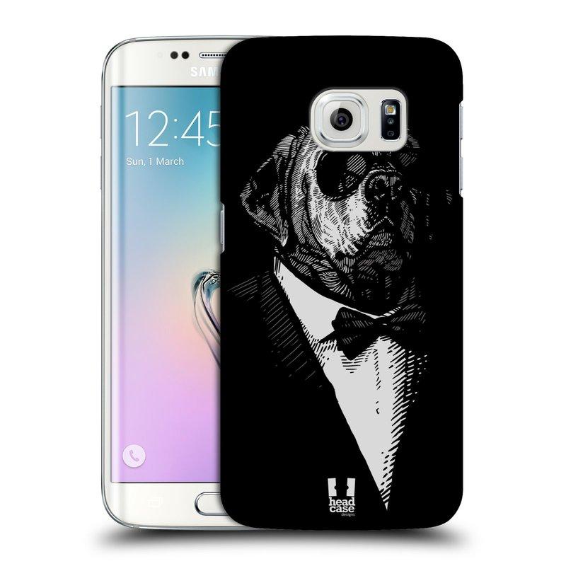 Plastové pouzdro na mobil Samsung Galaxy S6 Edge HEAD CASE PSISKO V KVÁDRU (Kryt či obal na mobilní telefon Samsung Galaxy S6 Edge SM-G925F)
