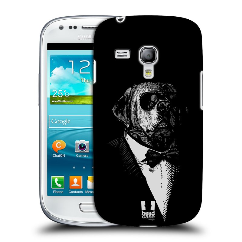 Plastové pouzdro na mobil Samsung Galaxy S III Mini HEAD CASE PSISKO V KVÁDRU (Kryt či obal na mobilní telefon Samsung Galaxy S III Mini GT-i8190)