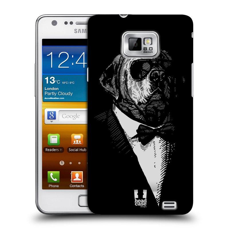 Plastové pouzdro na mobil Samsung Galaxy S II HEAD CASE PSISKO V KVÁDRU (Kryt či obal na mobilní telefon Samsung Galaxy S II GT-i9100)