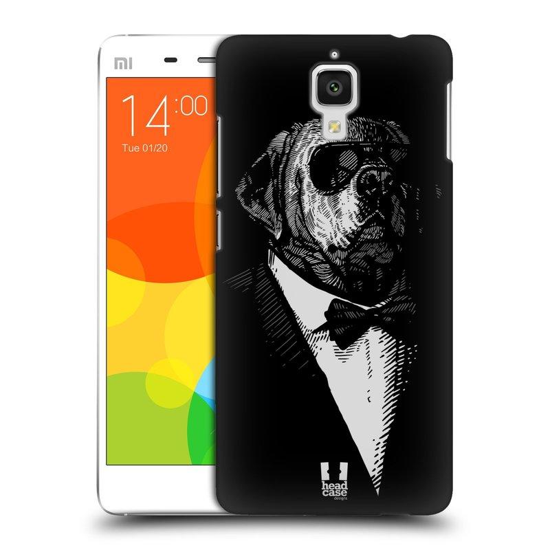 Plastové pouzdro na mobil Xiaomi Mi4 HEAD CASE PSISKO V KVÁDRU (Kryt či obal na mobilní telefon Xiaomi Mi4)