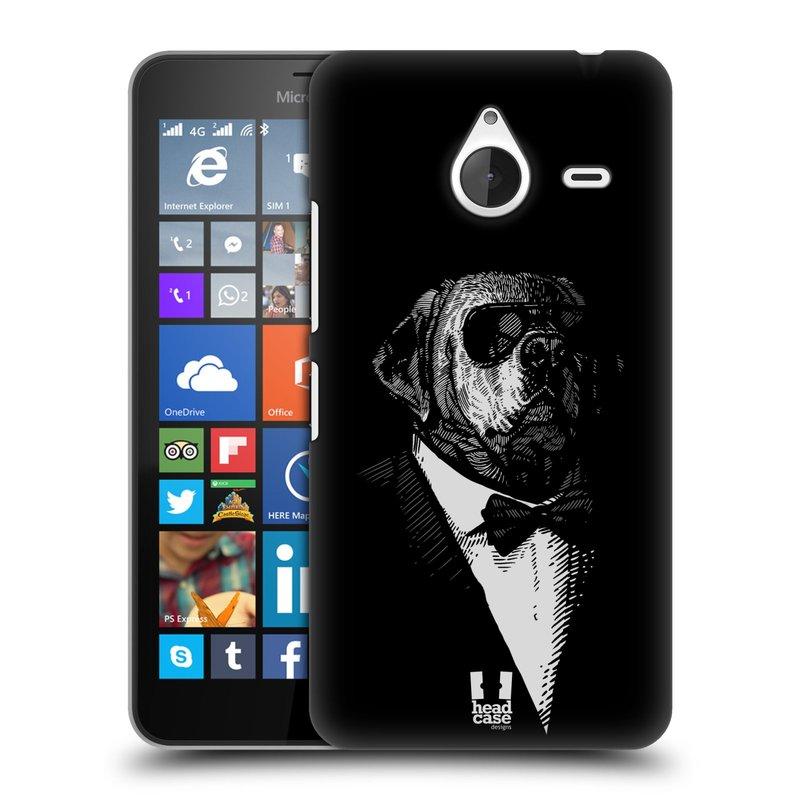 Plastové pouzdro na mobil Microsoft Lumia 640 XL HEAD CASE PSISKO V KVÁDRU (Kryt či obal na mobilní telefon Microsoft Lumia 640 XL)