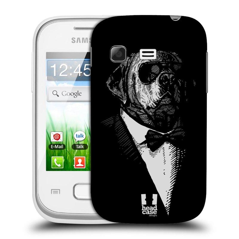 Plastové pouzdro na mobil Samsung Galaxy Pocket HEAD CASE PSISKO V KVÁDRU (Kryt či obal na mobilní telefon Samsung Galaxy Pocket GT-S5300)