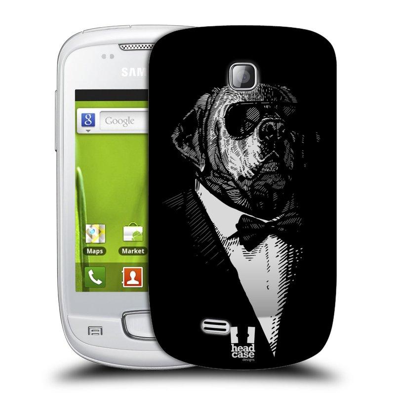 Plastové pouzdro na mobil Samsung Galaxy Mini HEAD CASE PSISKO V KVÁDRU (Kryt či obal na mobilní telefon Samsung Galaxy Mini GT-S5570 / GT-S5570i)