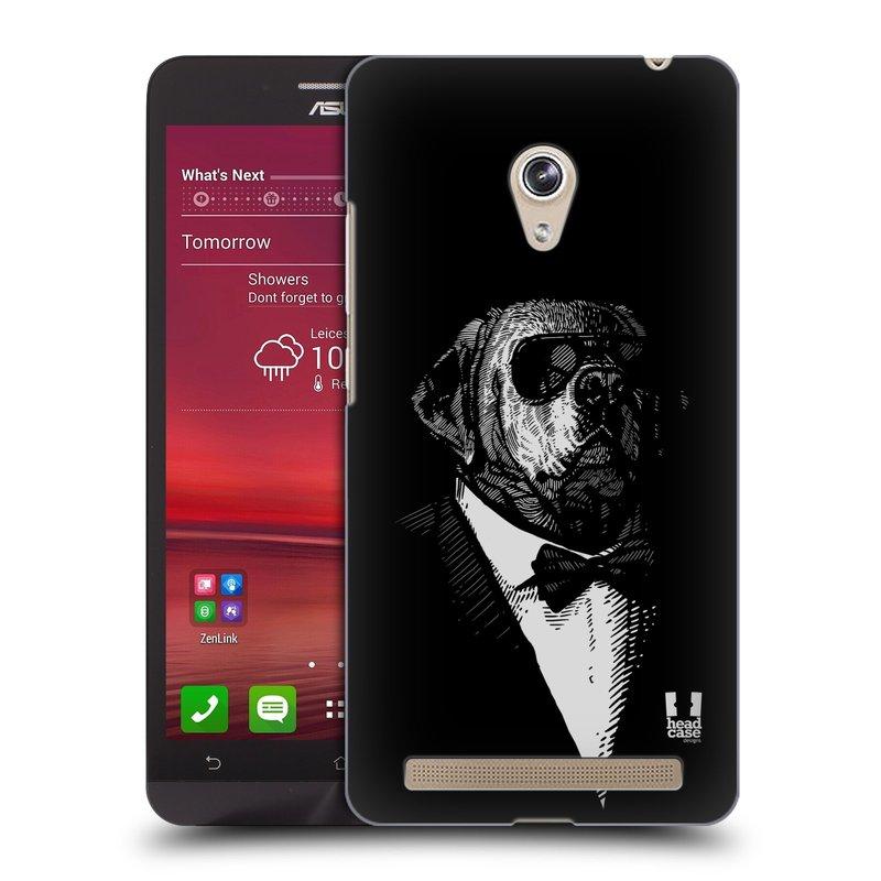 Plastové pouzdro na mobil Asus Zenfone 6 HEAD CASE PSISKO V KVÁDRU (Kryt či obal na mobilní telefon Asus Zenfone 6 A600CG / A601CG)