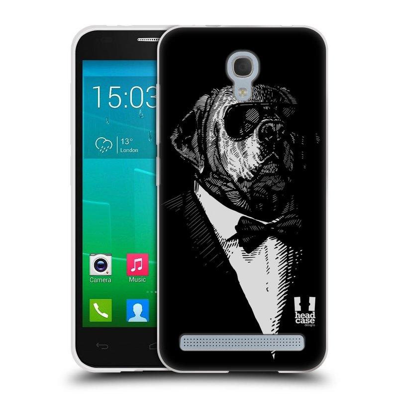 Silikonové pouzdro na mobil Alcatel One Touch Idol 2 Mini S 6036Y HEAD CASE PSISKO V KVÁDRU (Silikonový kryt či obal na mobilní telefon Alcatel Idol 2 Mini S OT-6036Y)