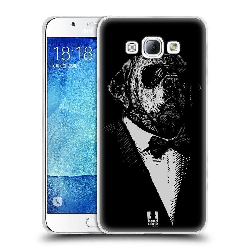 Silikonové pouzdro na mobil Samsung Galaxy A8 HEAD CASE PSISKO V KVÁDRU (Silikonový kryt či obal na mobilní telefon Samsung Galaxy A8 SM-A800)