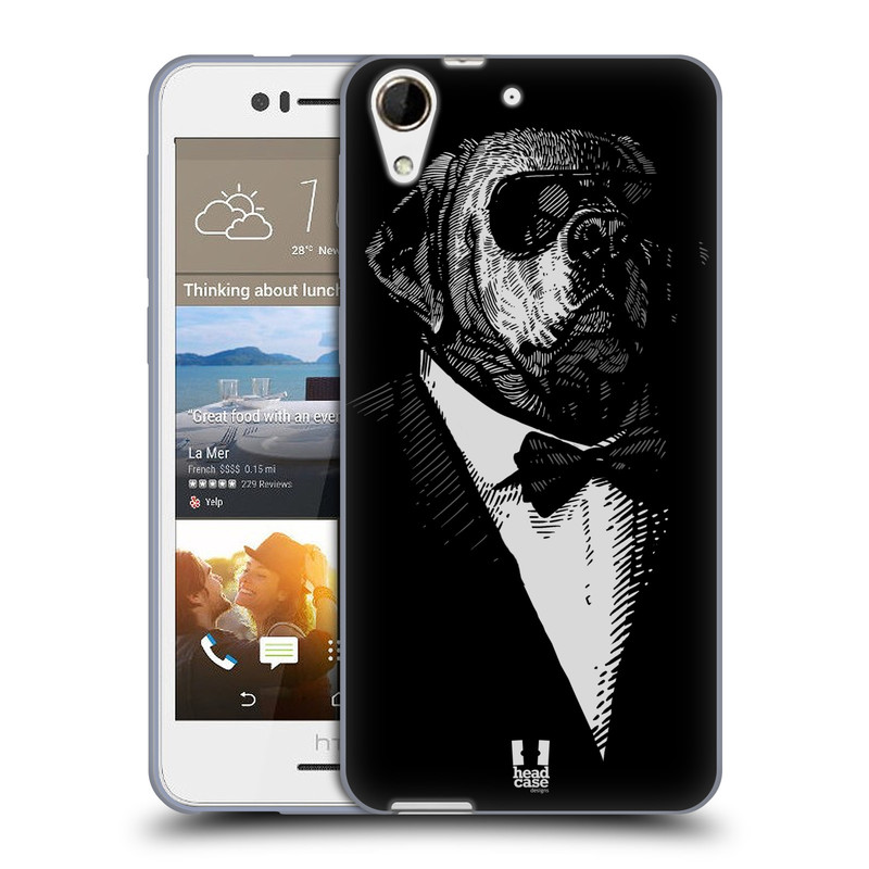 Silikonové pouzdro na mobil HTC Desire 728G Dual SIM HEAD CASE PSISKO V KVÁDRU (Silikonový kryt či obal na mobilní telefon HTC Desire 728 G Dual SIM)