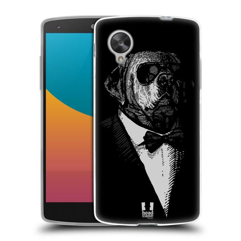 Silikonové pouzdro na mobil LG Nexus 5 HEAD CASE PSISKO V KVÁDRU (Silikonový kryt či obal na mobilní telefon LG Google Nexus 5 D821)