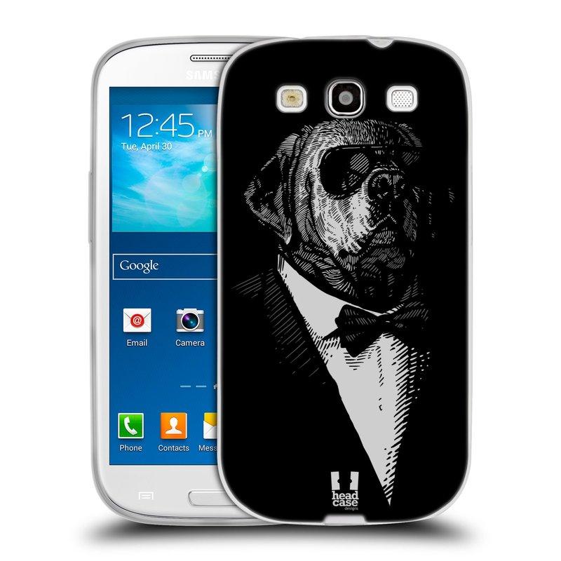 Silikonové pouzdro na mobil Samsung Galaxy S III HEAD CASE PSISKO V KVÁDRU (Silikonový kryt či obal na mobilní telefon Samsung Galaxy S III GT-i9300)