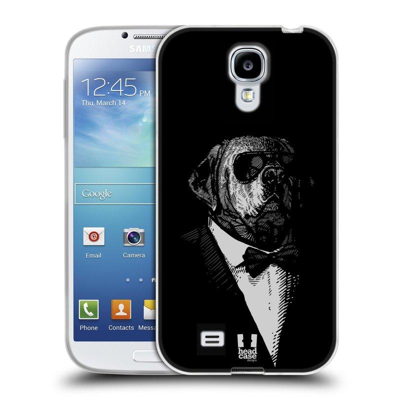 Silikonové pouzdro na mobil Samsung Galaxy S4 HEAD CASE PSISKO V KVÁDRU (Silikonový kryt či obal na mobilní telefon Samsung Galaxy S4 GT-i9505 / i9500)