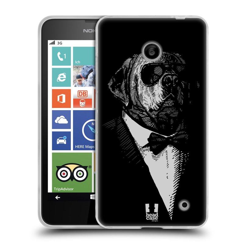 Silikonové pouzdro na mobil Nokia Lumia 630 HEAD CASE PSISKO V KVÁDRU (Silikonový kryt či obal na mobilní telefon Nokia Lumia 630 a Nokia Lumia 630 Dual SIM)