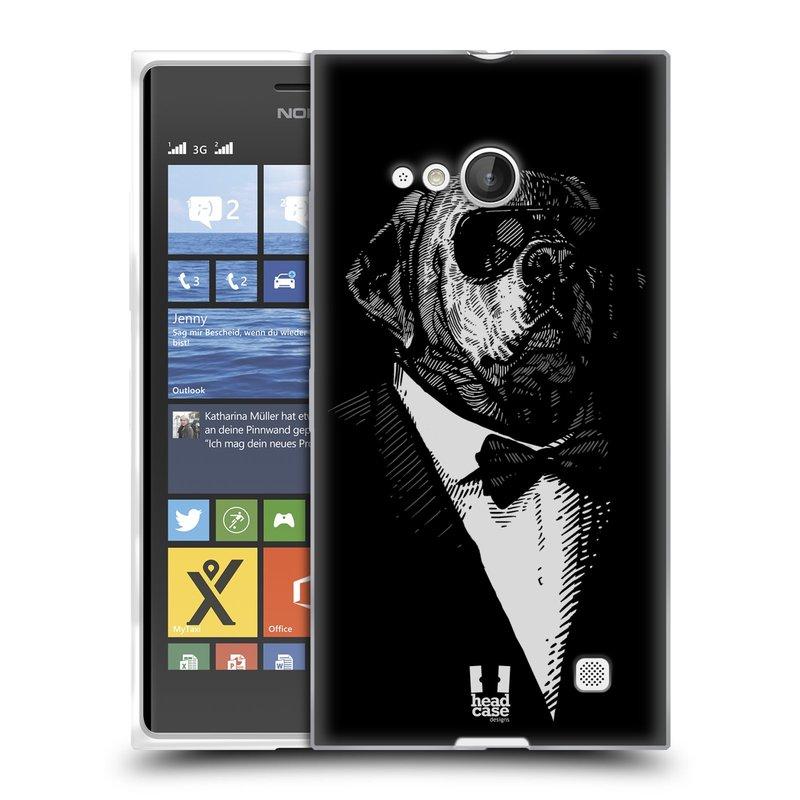 Silikonové pouzdro na mobil Nokia Lumia 730 Dual SIM HEAD CASE PSISKO V KVÁDRU (Silikonový kryt či obal na mobilní telefon Nokia Lumia 730 Dual SIM)