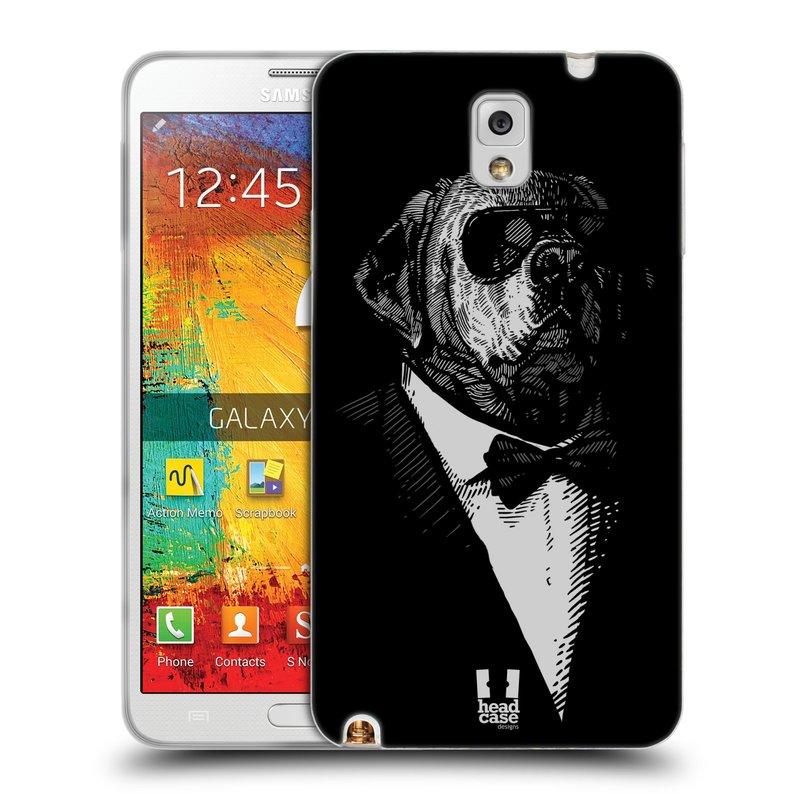 Silikonové pouzdro na mobil Samsung Galaxy Note 3 HEAD CASE PSISKO V KVÁDRU (Silikonový kryt či obal na mobilní telefon Samsung Galaxy Note 3 SM-N9005)