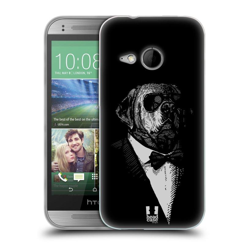 Silikonové pouzdro na mobil HTC ONE Mini 2 HEAD CASE PSISKO V KVÁDRU (Silikonový kryt či obal na mobilní telefon HTC ONE Mini 2)