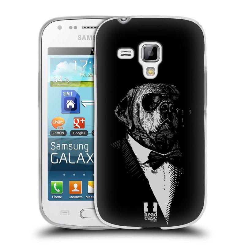 Silikonové pouzdro na mobil Samsung Galaxy S Duos HEAD CASE PSISKO V KVÁDRU (Silikonový kryt či obal na mobilní telefon Samsung Galaxy S Duos GT-S7562)