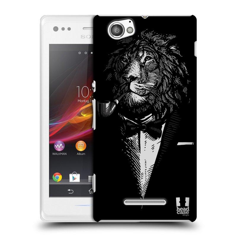 Plastové pouzdro na mobil Sony Xperia M C1905 HEAD CASE LEV V KVÁDRU (Kryt či obal na mobilní telefon Sony Xperia M a M Dual)
