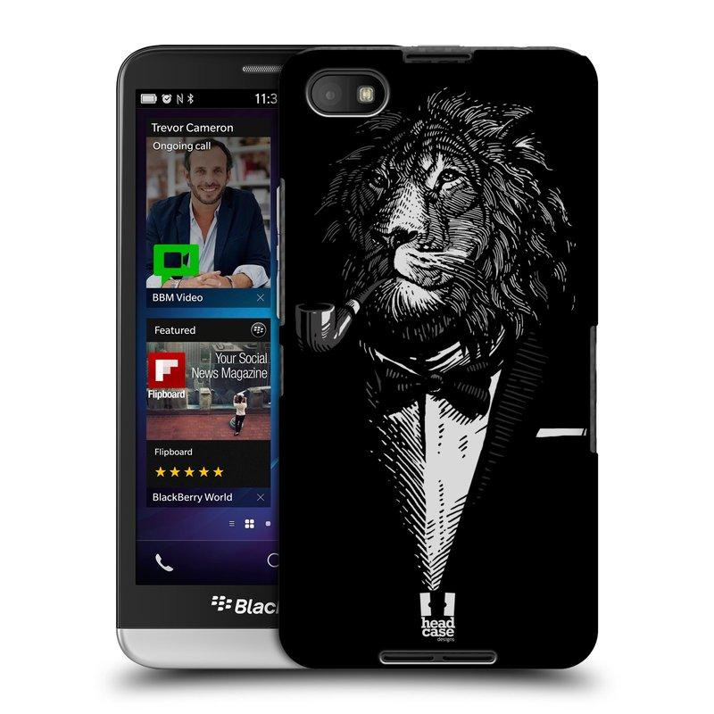 Plastové pouzdro na mobil Blackberry Z30 HEAD CASE LEV V KVÁDRU (Kryt či obal na mobilní telefon Blackberry Z30)