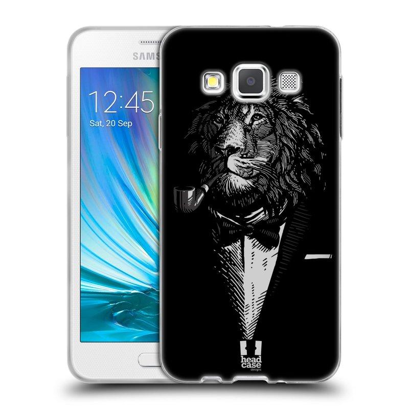 Silikonové pouzdro na mobil Samsung Galaxy A3 HEAD CASE LEV V KVÁDRU (Silikonový kryt či obal na mobilní telefon Samsung Galaxy A3 SM-A300)