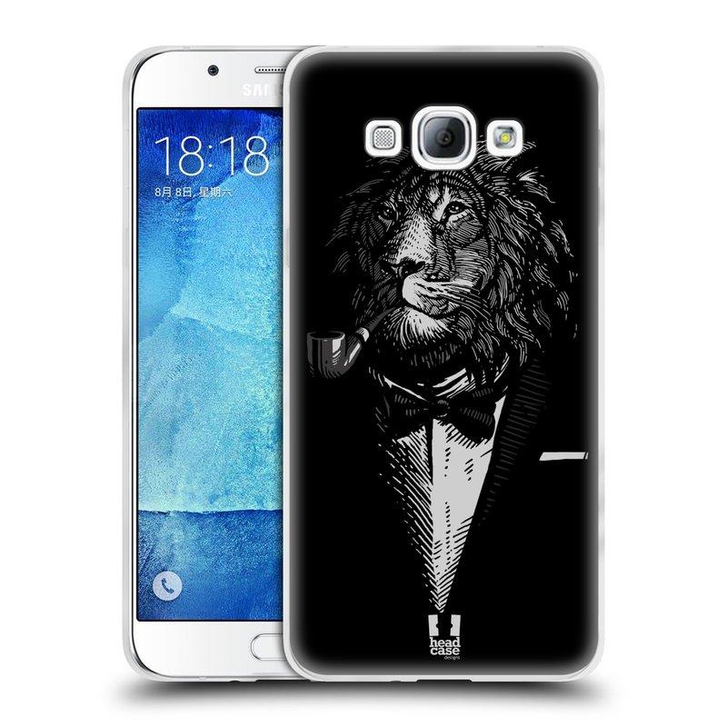 Silikonové pouzdro na mobil Samsung Galaxy A8 HEAD CASE LEV V KVÁDRU (Silikonový kryt či obal na mobilní telefon Samsung Galaxy A8 SM-A800)