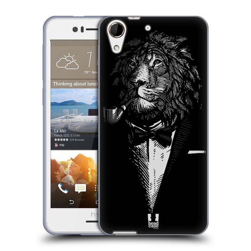 Silikonové pouzdro na mobil HTC Desire 728G Dual SIM HEAD CASE LEV V KVÁDRU (Silikonový kryt či obal na mobilní telefon HTC Desire 728 G Dual SIM)