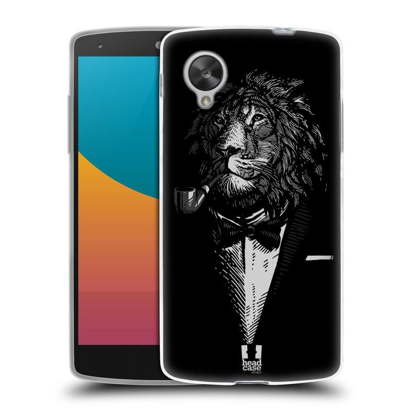 Silikonové pouzdro na mobil LG Nexus 5 HEAD CASE LEV V KVÁDRU (Silikonový kryt či obal na mobilní telefon LG Google Nexus 5 D821)