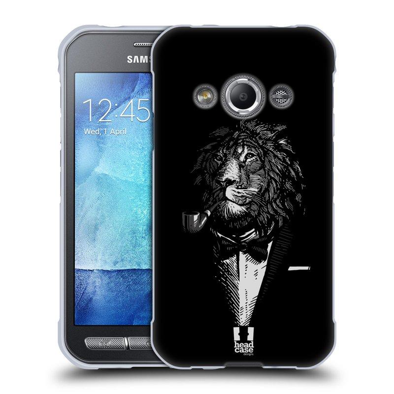 Silikonové pouzdro na mobil Samsung Galaxy Xcover 3 HEAD CASE LEV V KVÁDRU (Silikonový kryt či obal na mobilní telefon Samsung Galaxy Xcover 3 SM-G388F)