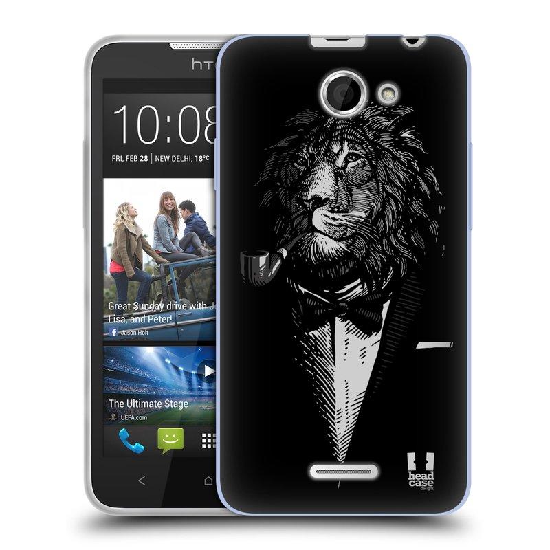 Silikonové pouzdro na mobil HTC Desire 516 HEAD CASE LEV V KVÁDRU (Silikonový kryt či obal na mobilní telefon HTC Desire 516 Dual SIM)