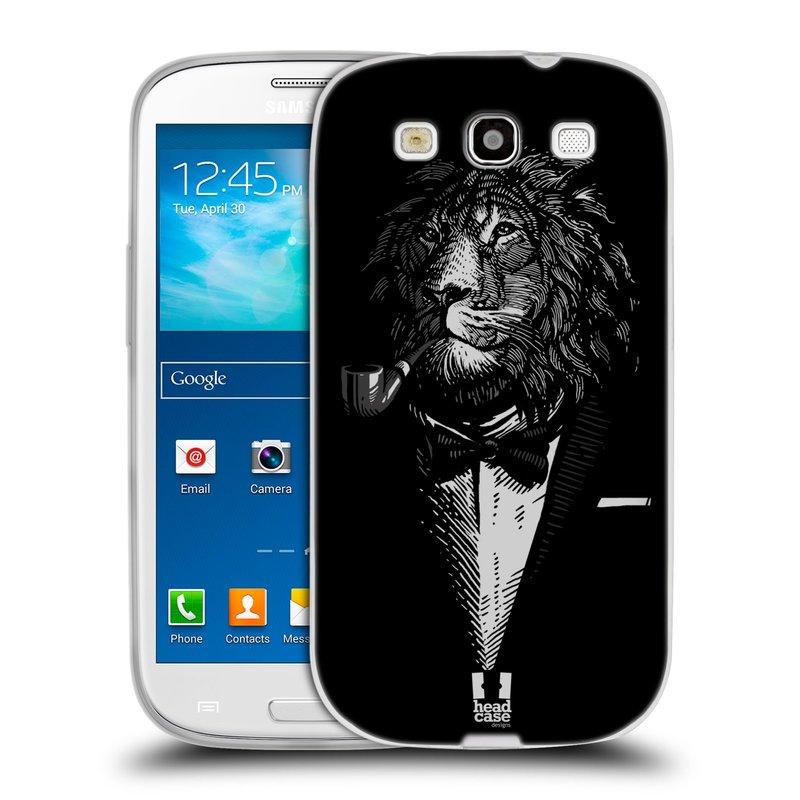 Silikonové pouzdro na mobil Samsung Galaxy S III HEAD CASE LEV V KVÁDRU (Silikonový kryt či obal na mobilní telefon Samsung Galaxy S III GT-i9300)